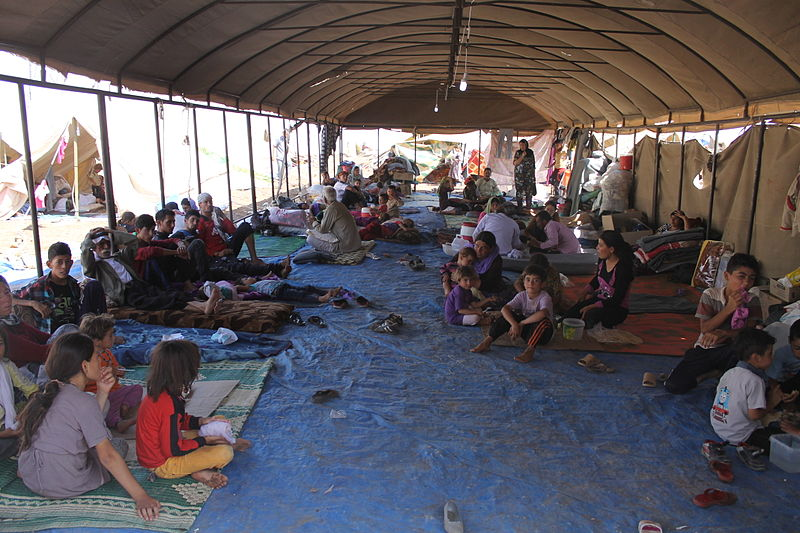 Iraqi refugees pictured in north-eastern Syria. Autarsys' energy storage system will be integrated with a 300kW PV project that will secure a more stable supply of power. Image: DFID - UK Dep't for International Development.
