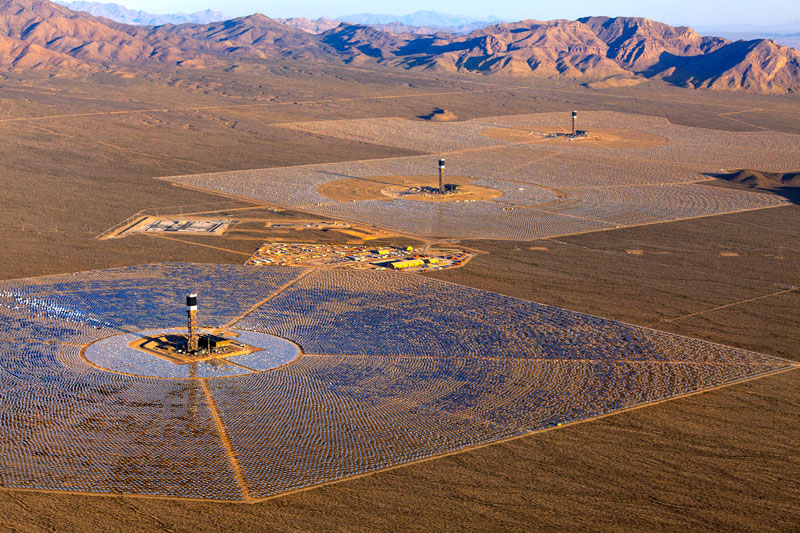 The Ivanpah concentrated solar plant. Source: energy.ca.gov