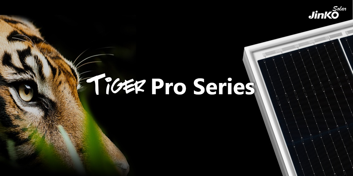 The new Tiger PRO module combines the half-cut cell design to reduce cell current mismatch and ribbon power losses. Image: JinkoSolar
