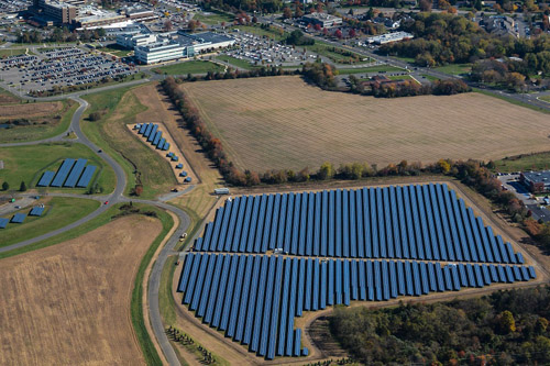 KDC Solar has a 50MW portfolio of solar facilities using net metering at 11 different locations. Credit: KDC Solar