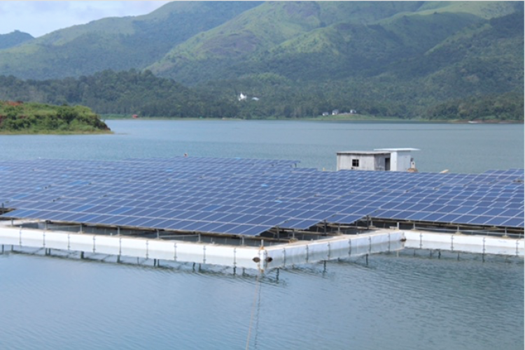 The installation is the latest for India's slowly growing floating PV ecosystem. Credit: KSEB
