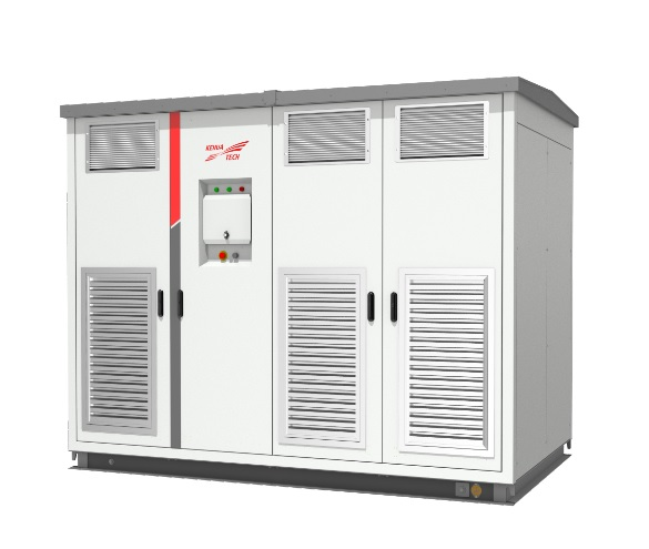 Kehua's latest 4.167MW (SPI4167K-B-HUD) 1500V central inverter is intended to improve the system efficiency by more than 1% and reduce the LCOE cost by over 5%, according to the company. Image: Kehua Tech