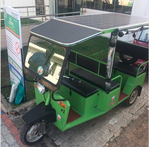 Lifeway Solar Devices solar rickshaw. credit: Tom Kenning