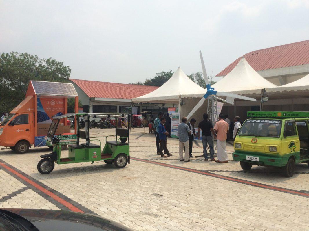 Outside the KREEPA Green Power Expo in Kochi. Credit: Tom Kenning