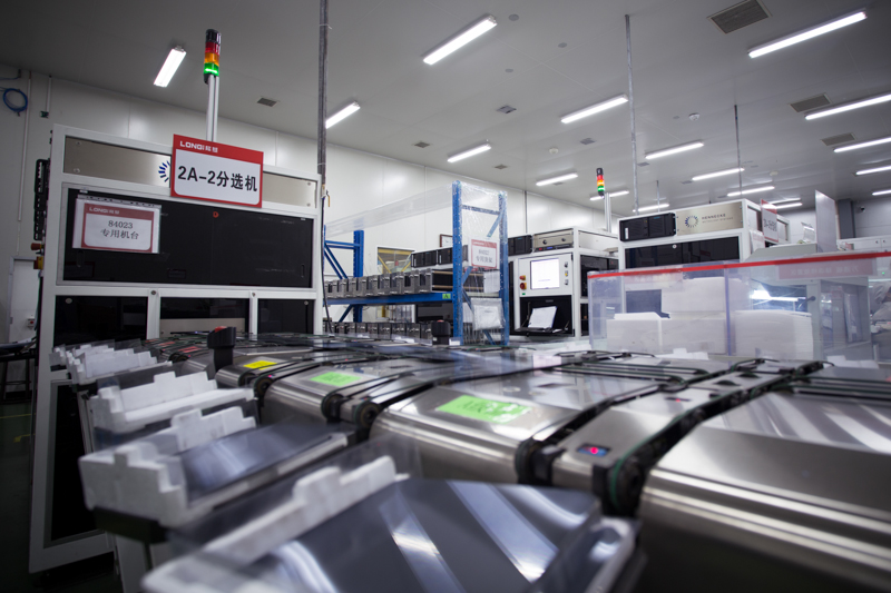 LONGi said that its annual production capacity for monocrystalline silicon wafers reached approximately 55GW by the end of the first half of 2020. Image: LONGi
