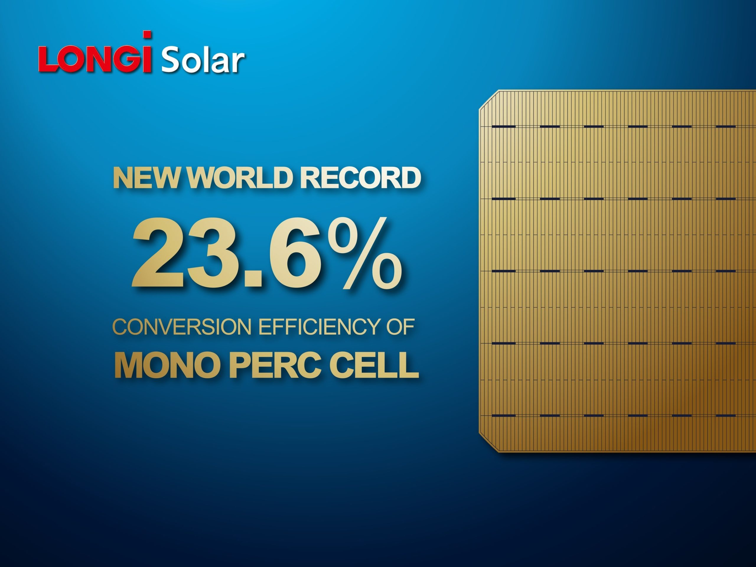 The results were certified by China's National Center of Supervision and Inspection on Solar Photovoltaic Product Quality (CPVT). Image: LONGi Solar