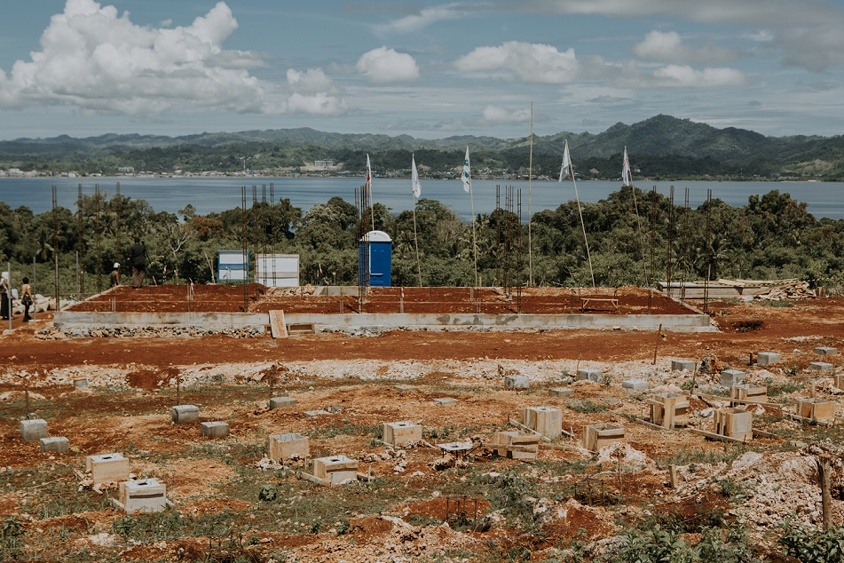 Construction site of a solar power plant in Karampuang Island, West Sulawesi. Credit: MCA-Indonesia