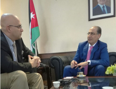 MESIA met with the Jordanian Minister of Energy & Mineral Resources and the Round 3 solar tender was discussed. Credit: MESIA