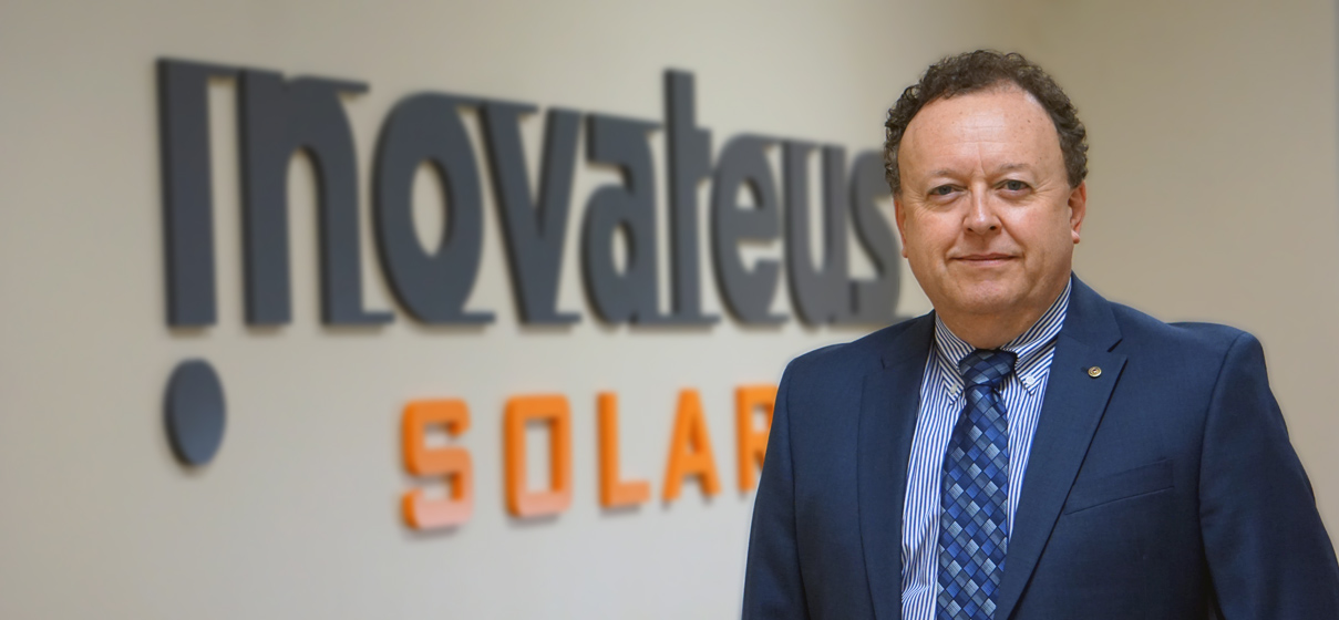 Mike Pound will be responsible for developing and implementing strategies for increasing and balancing the multiple revenue streams of the company. Source: Innovateus Solar