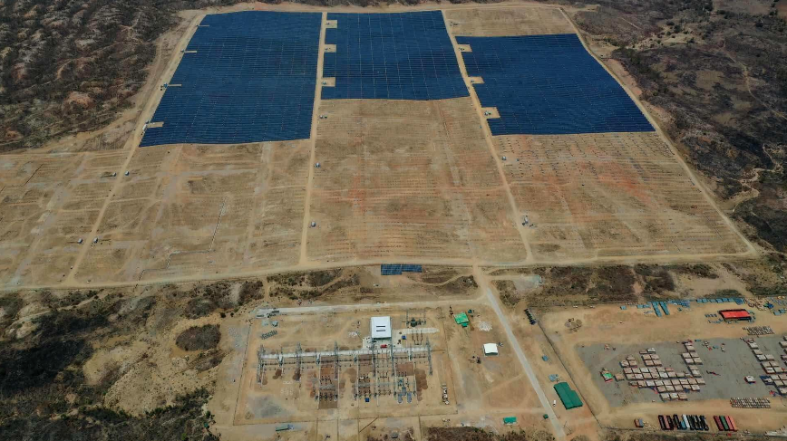 The project covers an area of 81 hectares and is expected to be connected to the grid in June 2019. Credit: Jetion Solar