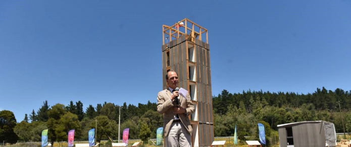 The Peñuelas Experimental Tower was inaugurated by Chile's government last year (Credit: Chilean Ministry for Housing)