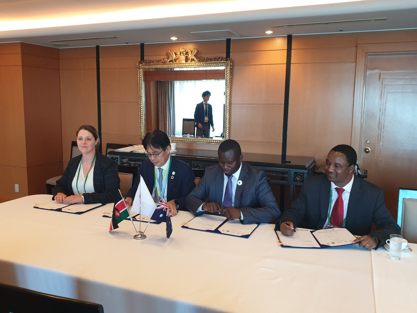 Windlab East Africa, Eurus Energy, the Kenya Investment Authority and Meru County Government sign a MoU for the Meru County Energy Park at the Tokyo International Conference on African Development on Thursday 29 August, 2019. Source: Twitter