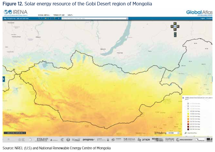 Mongolia has 7% of its energy coming from renewables at present. Credit: NREL