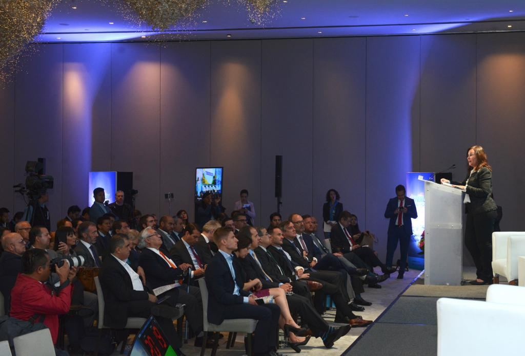 """""""If clean energy production rises, so must gas infrastructure to back that electricity,"""" Nahle told event attendees (Image credit: Mexican government)"""