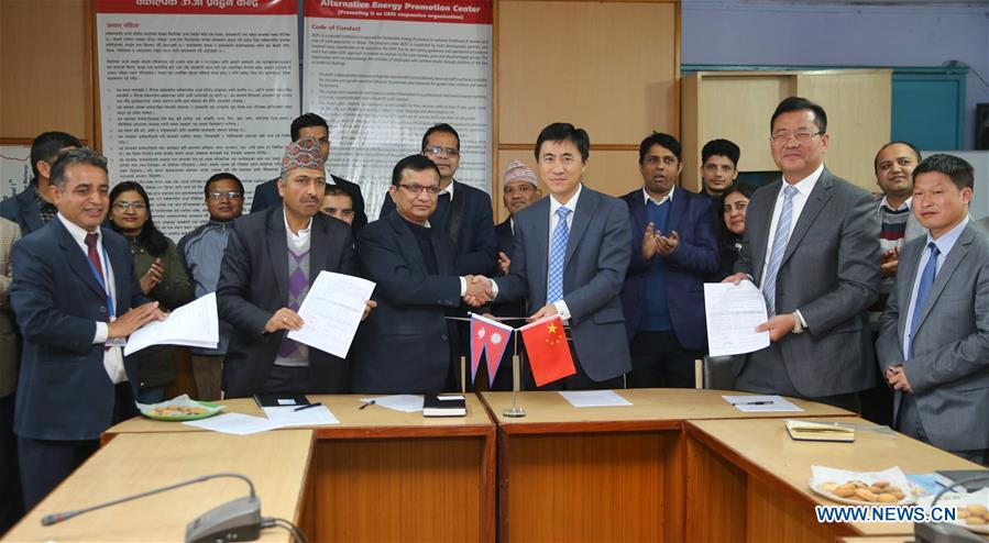 China donates thousands of solar systems to Nepal. Credit: Xinhua