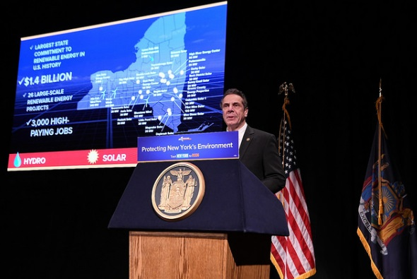 The projects were qualified by New York State Energy Research and Development Authority (NYSERDA) and are expected to be all completed an operational by 2022 as part of competitive awards, driven by New York State Governor, Andrew Cuomo and his Clean Energy Standard mandate. Image: NY State Gov Office