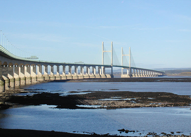 The Second Severn Crossing, which connects England to Wales, was built by John Laing over a period of four years, opening to traffic in 1996. Source: Wikimedia Commons