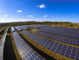 The projected solar installation discussed would have an installed generation capacity of 423MW. Image: NextEra