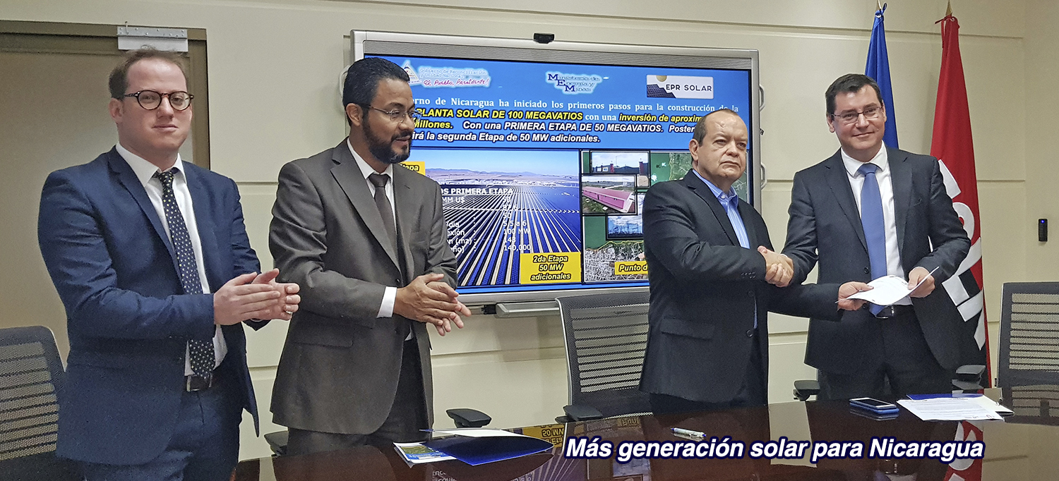 The MoU signing will help reinvigorate Nicaraguan PV, which currently accounts for 0.52% of the energy mix (Credit: Nicaraguan government)