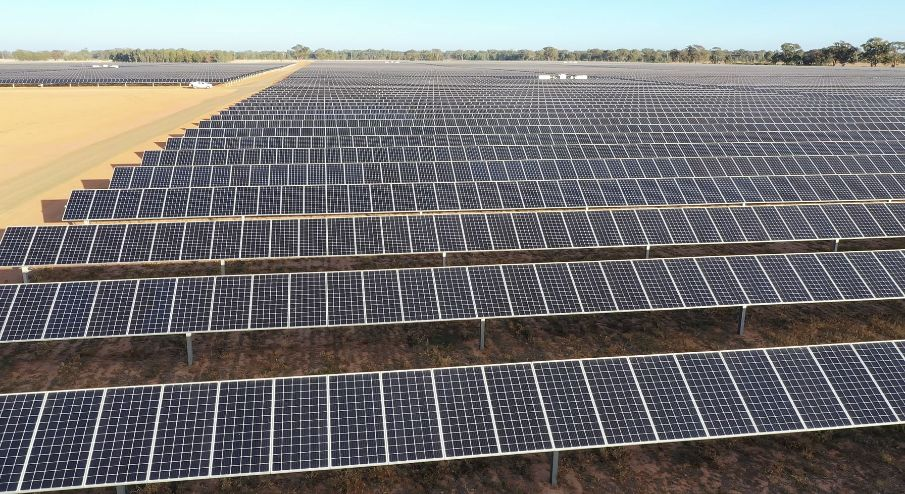 Downer's decision not to take on new solar construction work comes after the firm helped deliver Neoen's 128MWp Numurkah project. Image credit: Downer Group