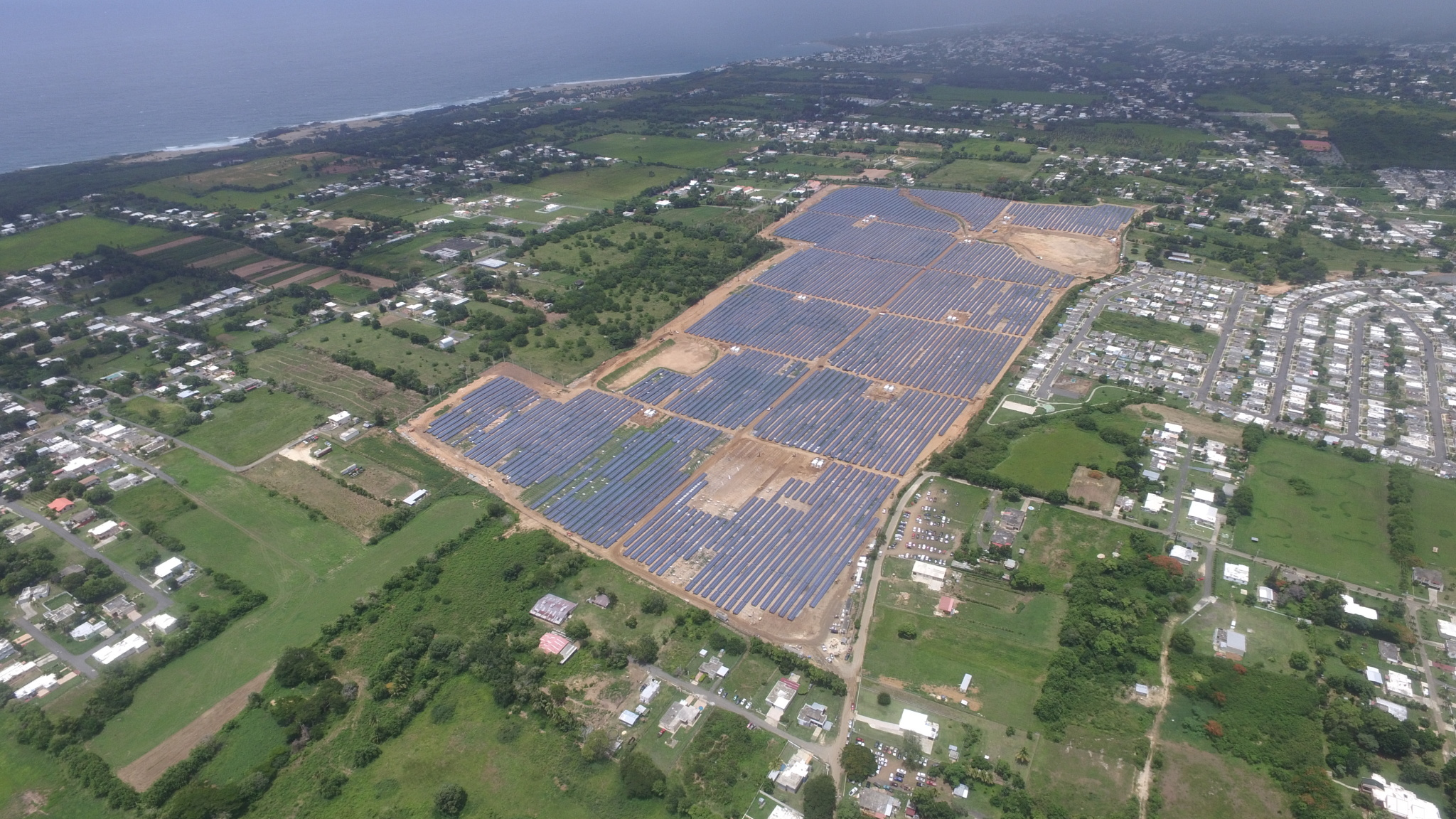 The US$160 million plant has now been connected to the Puerto Rico Electric Power Authority's (PREPA) transmission grid. Credit: Sonnedix