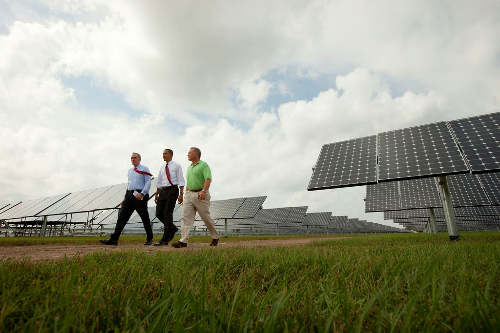 Obama said solar showed how economic growth and tackling climate change can go hand in hand. Image: White House, Flickr.