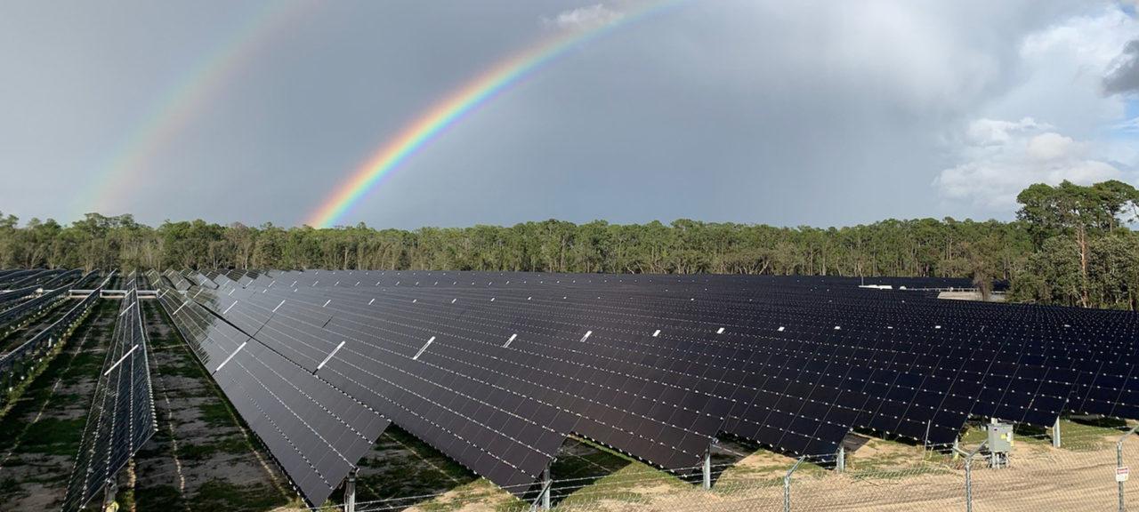 One of Origis Energy's predecessor projects - FL Solar 5 - in operation in Florida. Image: Origis Energy.