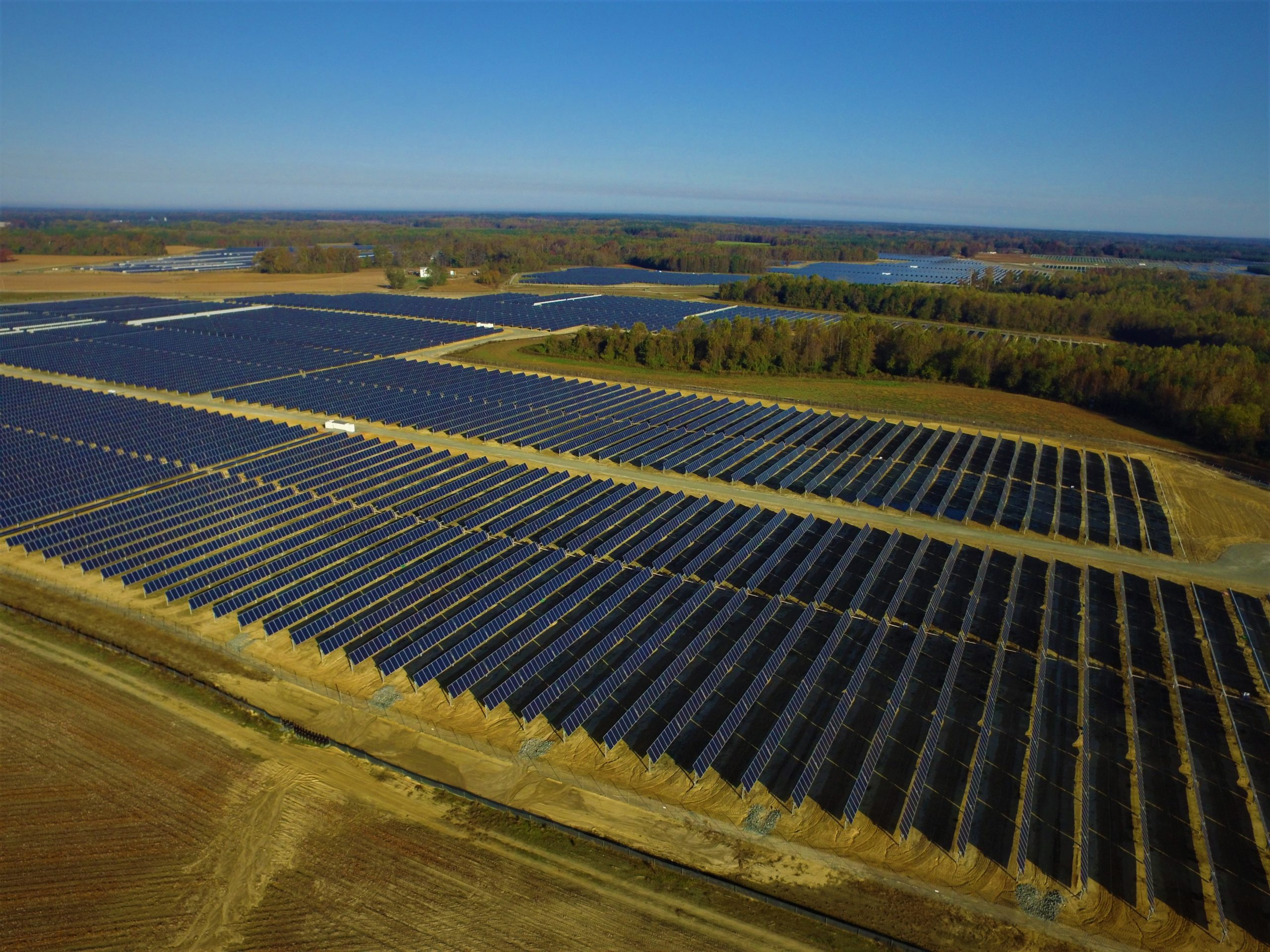 One of Amazon's existing large-scale solar facilities in Virginia.