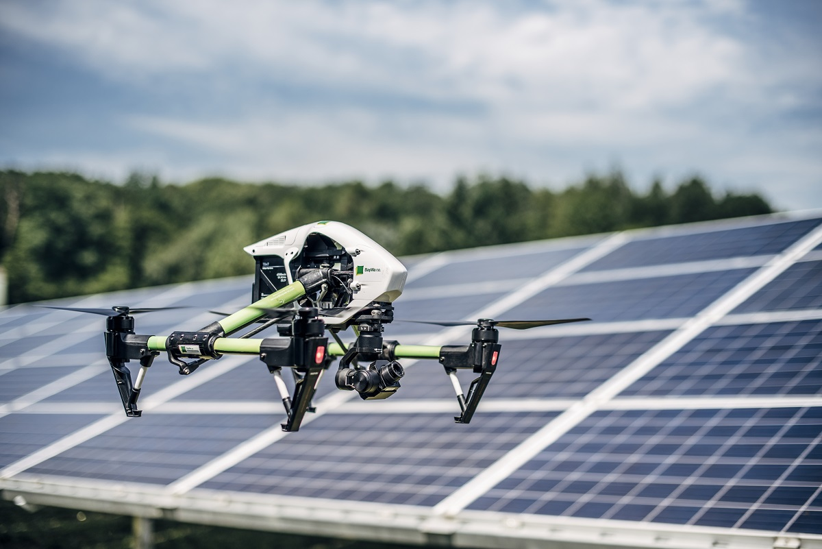 Drone-enabled inspections of PV power plants are increasingly popular in solar O&M. Image: BayWa r.e.