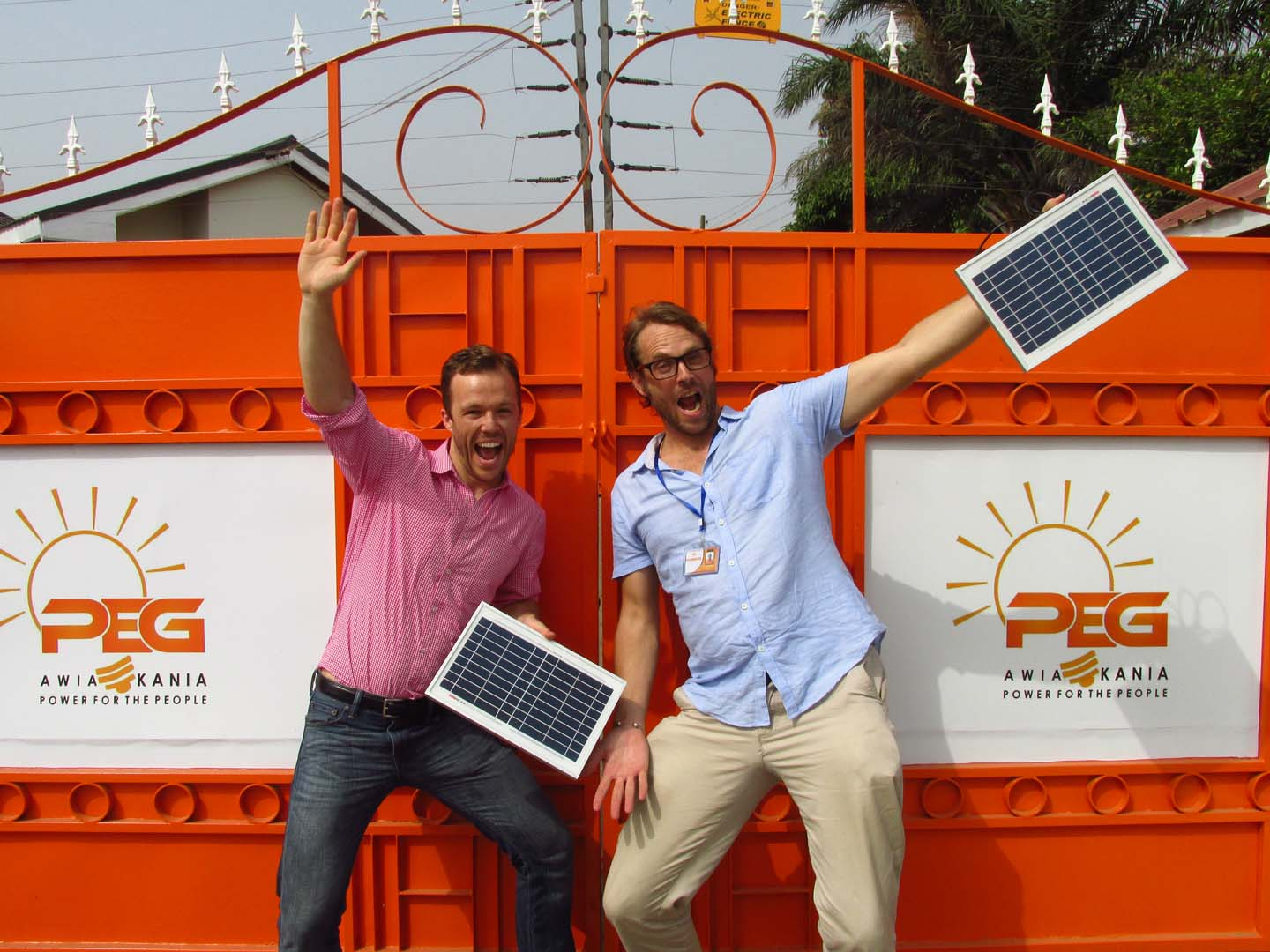 PEG Africa co-founders Hugh Whalan (left) and Nate Heller (right). Source: PEG Africa