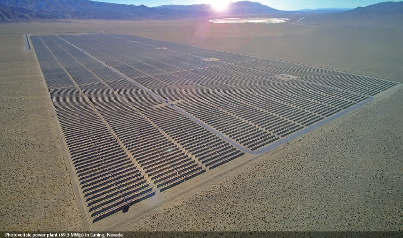 An existing solar farm in Nevada, brought forward by Phoenix Solar. Image: Phoenix Solar.