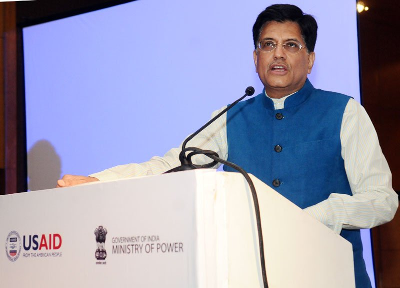 Energy minister Piyush Goyal launched part one of the report. Credit: Ministry of Power
