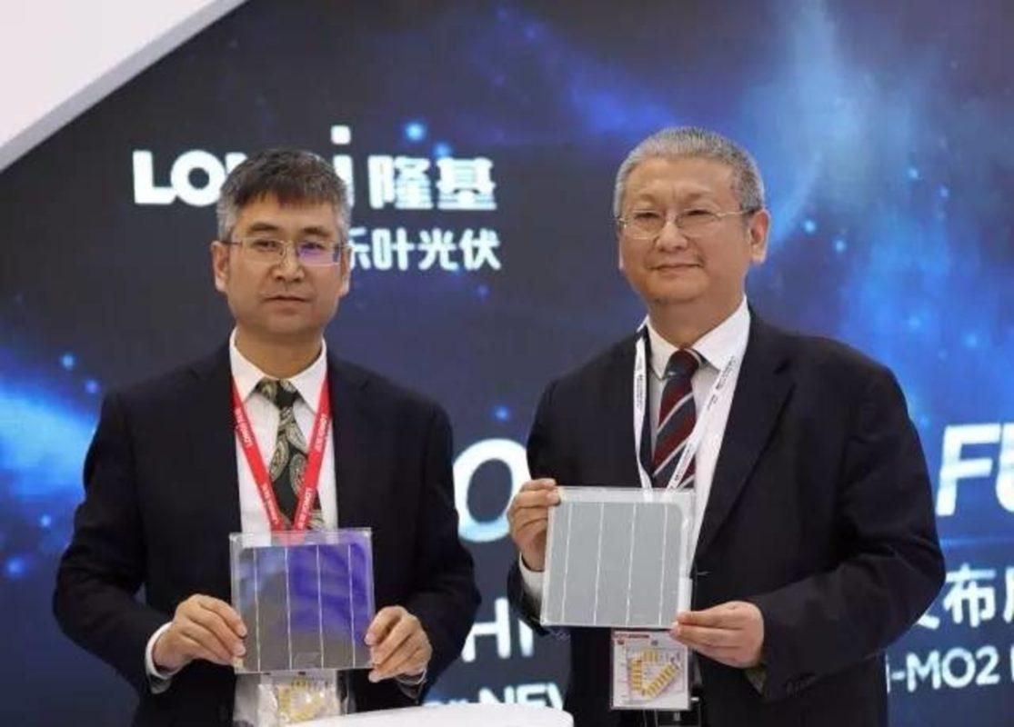 Zhenguo Lee (right) president of the Longi Group.