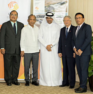 Image: Left to Right: Department of Energy Undersecretary Donato D. Marcos Secretary, Department of Energy His Excellency Alfonso G. Cusi,, Chairman and CEO, Qatar Solar Technologies (QSTec), Dr. Khalid Klefeekh Al Hajri, Philippines' Ambassador to the State of Qatar, His Excellency Alan L. Timbayan and Assistant Secretary Atty. Gerardo D. Erguiza Jr. Credit: QSTec