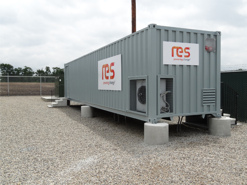 Parent company RES' portfolio includes solar, wind and large-scale energy storage (pictured). Image: Renewable Energy Systems.