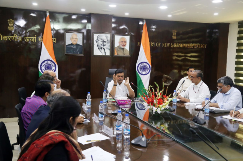Indian power minister R.K. Singh meets with the energy storage manufacturing industry. Credit: R.K Singh Twiiter