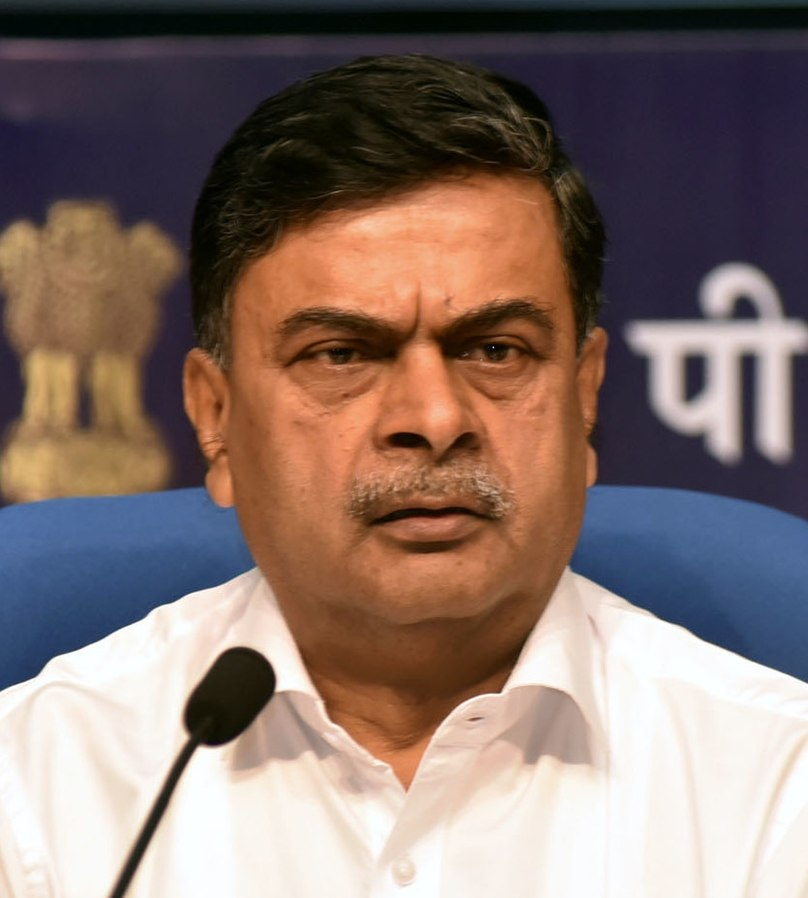 India's power minister RK Singh. Ministry of New and Renewable Energy GODL India.