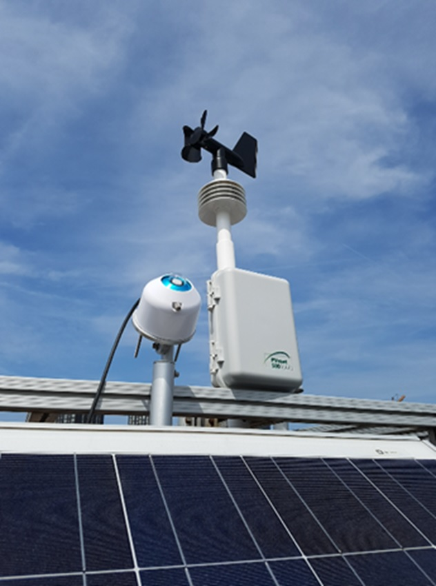 Compatible with most PV inverter companies technology and 3rd party monitoring solutions worldwide. Image: RainWise