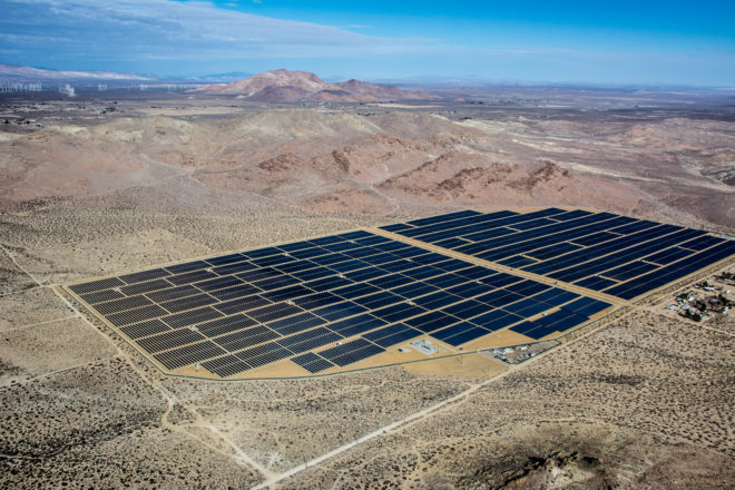 Already-completed Recurrent Energy solar projects in the US. Image: Recurrent Energy.