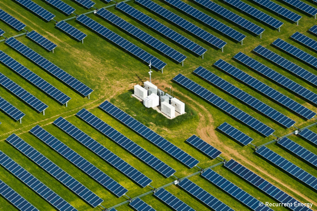 GE is co-financing a 100MW PV project being built by Recurrent Energy in California. Image: Recurrent Energy.