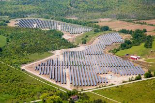 The 102MW project  will be one of the largest operating PV projects in North Carolina. Image: Recurrent Energy