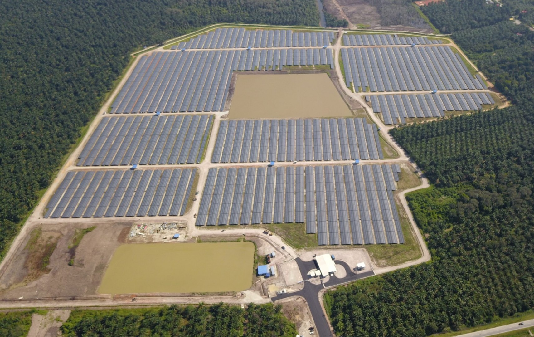 The 47MW Redsol Solar Farm, completed by Scatec Solar in Malaysia. Image: Scatec Solar.