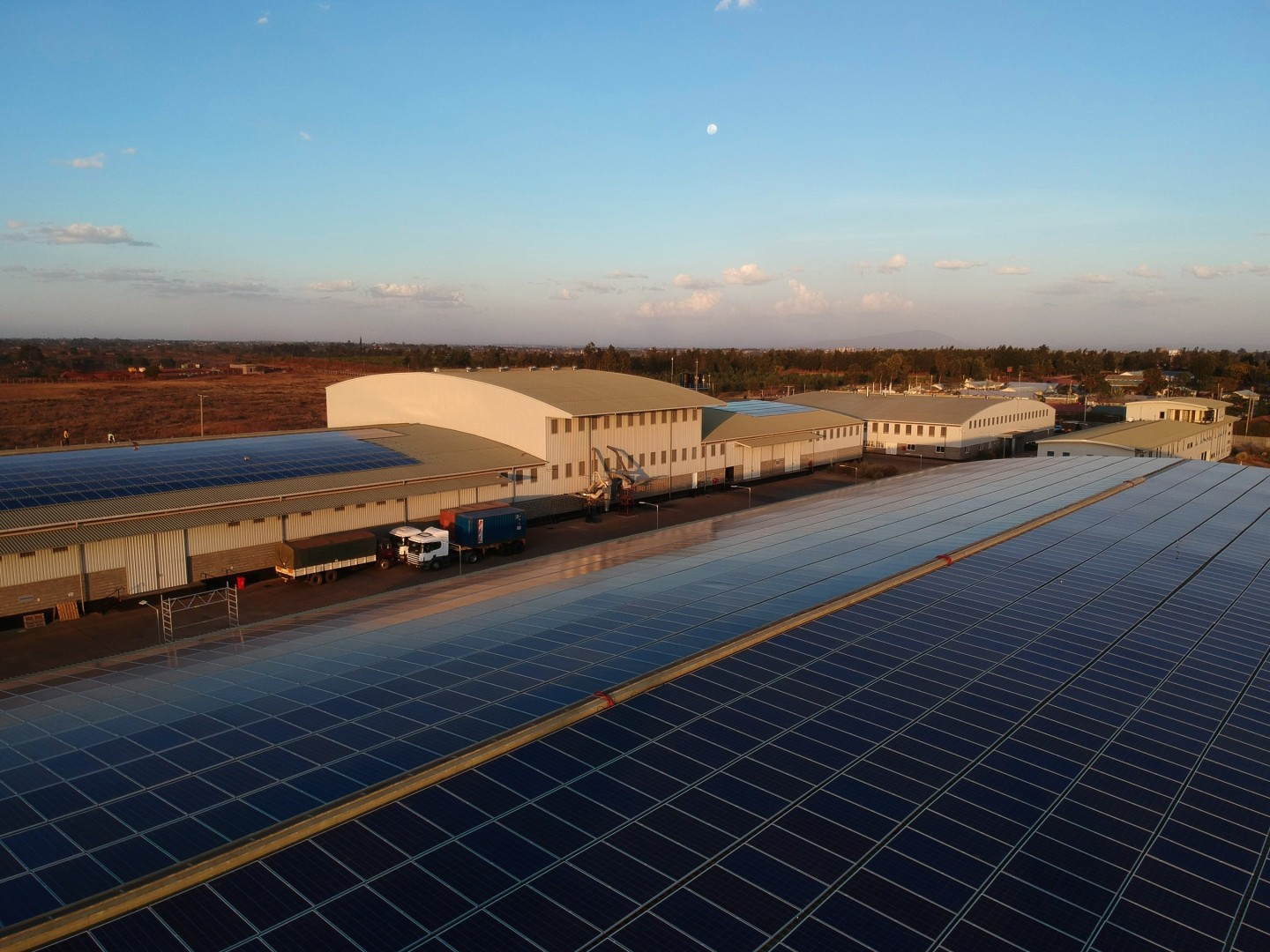 Rendeavour has installed its first solar power plant in Kenya, as part of a 30MW strategy for Tatu City, the company's new city development in Nairobi. Image: Rendeavour