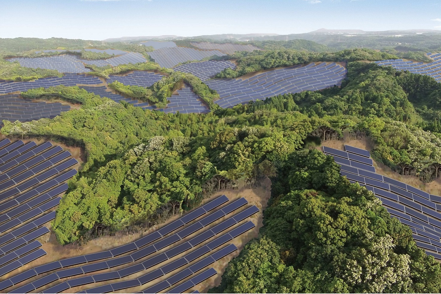 The 92MW site will feature 340,740 Kyocera solar modules and is expected to generate roughly 99,230MWh annually. Image: Kyocera