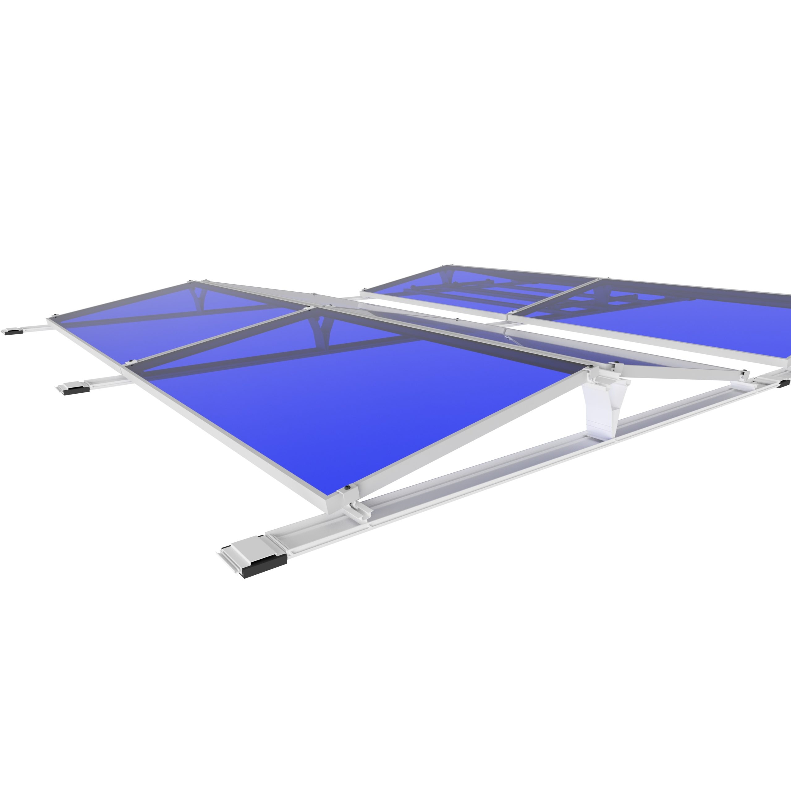 The lightweight construction boasting a system area load of 1.2 kg/m2 without a module and ballasting, and the design optimized in the wind tunnel enables solar installations to be mounted on roofs with particularly low load-bearing capacities, where penetrating the roof membrane is undesirable. Image: Renesol