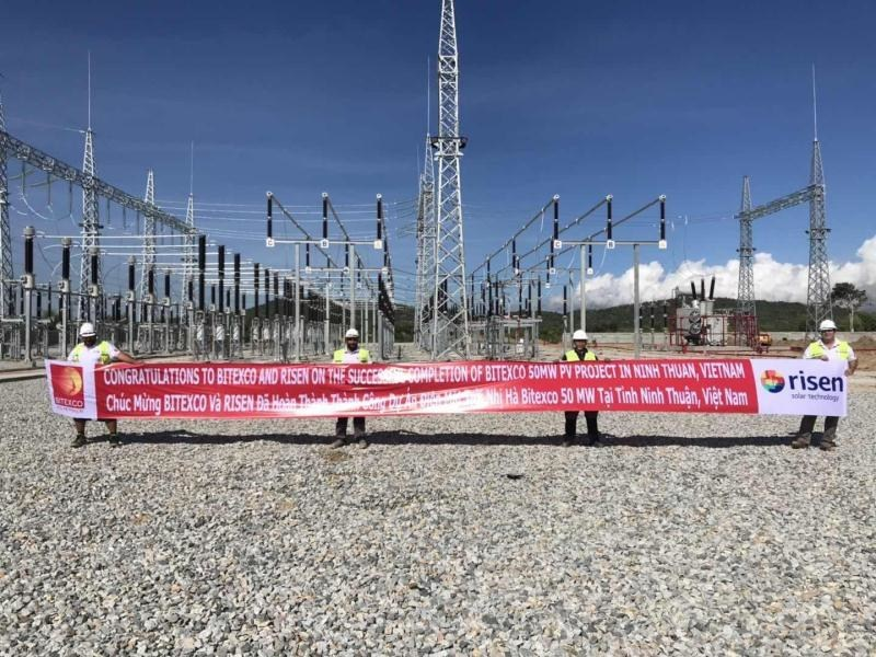 he 50MW installation was connected ahead of June 30, allowing the project to benefit from the country's nationwide feed-in-tariff (FiT) subsidy for PV installations. Image: Risen