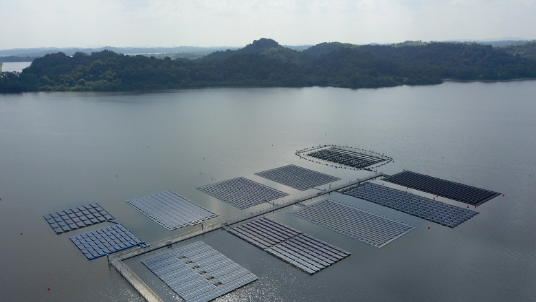 PUB's floating solar move comes after the utility had institute SERIS test the technology on Tengeh (Credit: SERIS)