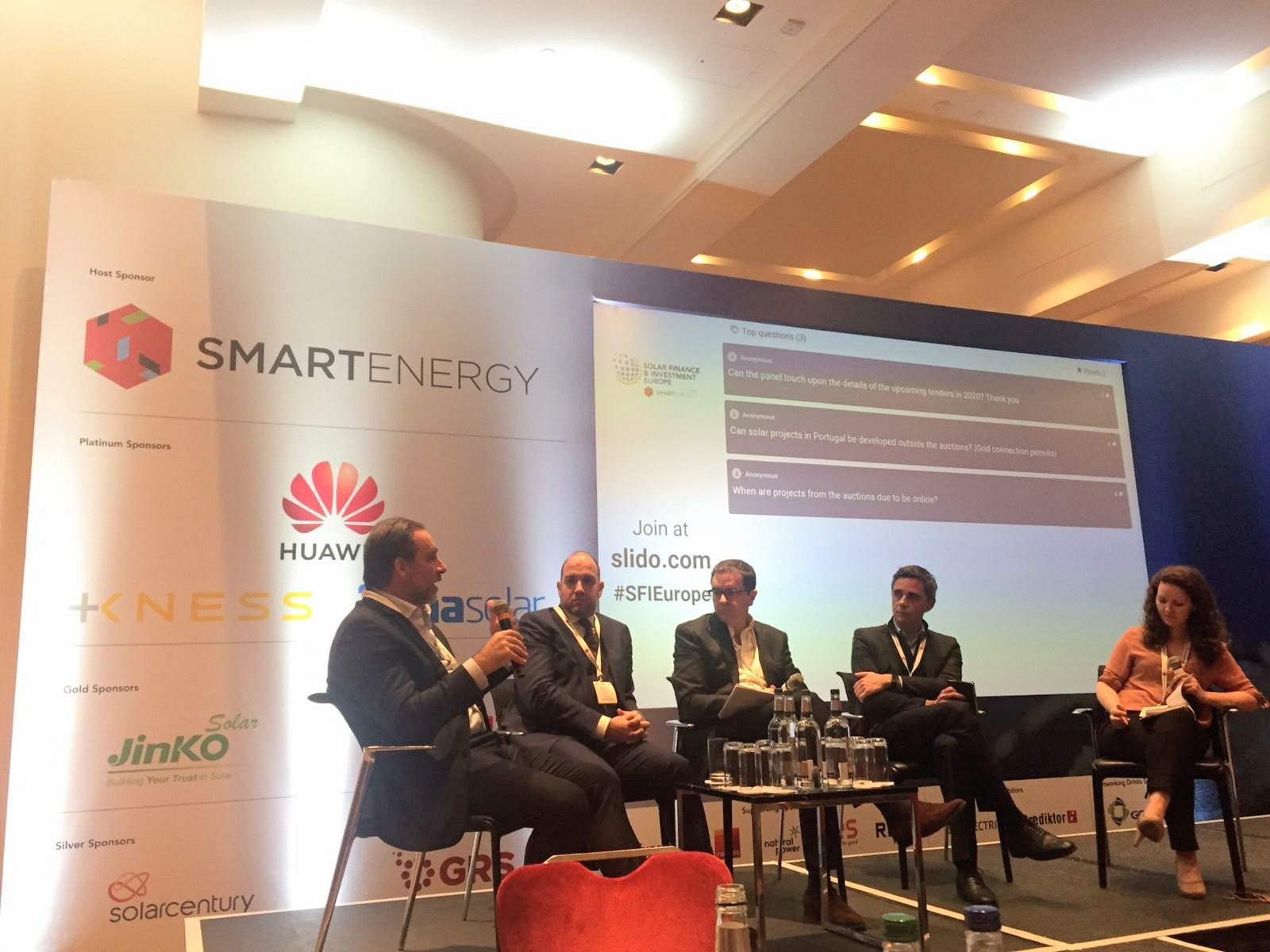 Auction worries did not stop speakers from feeling buoyant about Portugal's solar targets, with all panellists confident the scene is set for major growth. Image credit: Solar Media