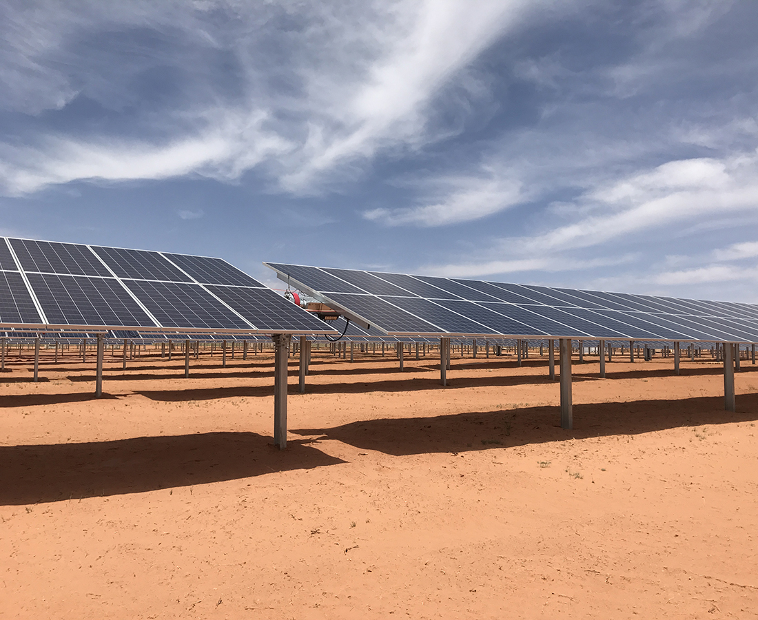Soltec's PV tracking systems were selected in order to deal with the harsh climate conditions present in South Carolina. Image: Soltec