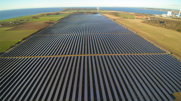 The 60MW project at Lerchenborg near Copenhagen has been connected to the grid since December last year. Credit: SMA